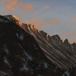 Brian Slawson | Last light on Longs Peak, oil, 12 x 24.