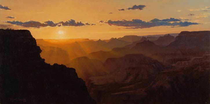 Brian Slawson | Grand Canyon Gold, oil, 12 x 24.