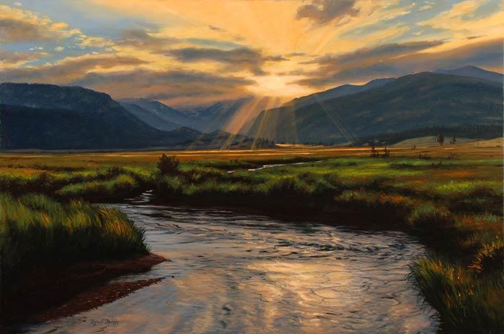 Brian Slawson | Moraine Park, oil, 20 x 30.
