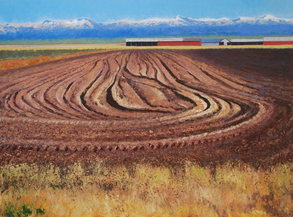 Gary Ernest Smith, Newly Plowed, oil, 30 x 40.