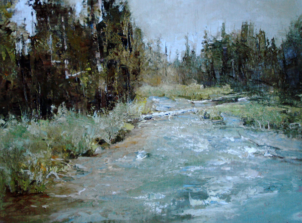 Sue Favinger Smith, Summer Morning, oil, 12 x 16.