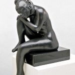 Michael Naranjo, Solitude, bronze sculpture
