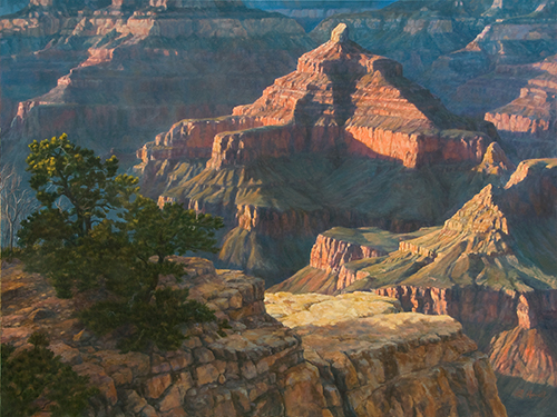 Brenda Howell, South Rim Majestic, oil, 30 x 40.