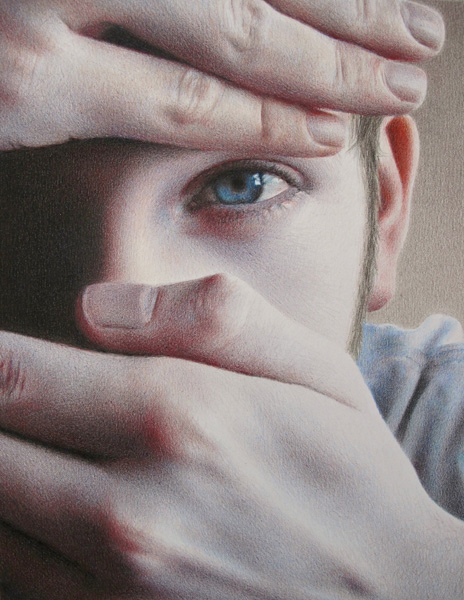 Tanja Gant, Speak No Evil, colored pencil, 10 x 8.
