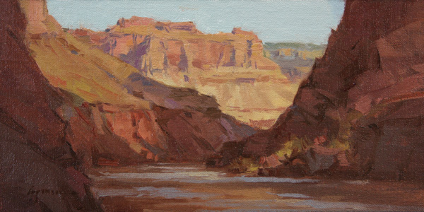 Ken Spencer, The Inner Gorge, Grand Canyon, oil, 6 x 11.