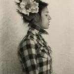 Julio Reyes | Spirited, charcoal, 26 x 17.