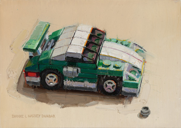 Dianne Massey-Dunbar, Sports Car, oil, 5 x 7.