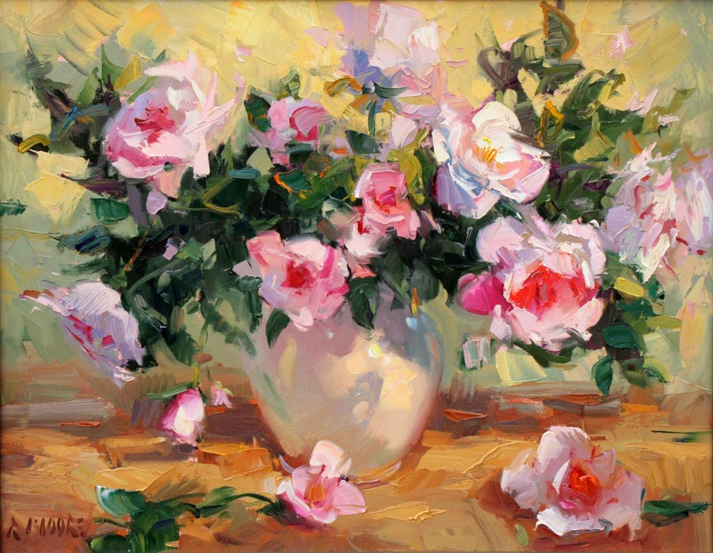 Robert Moore | Spring Bouquet, oil, 24 x 30.