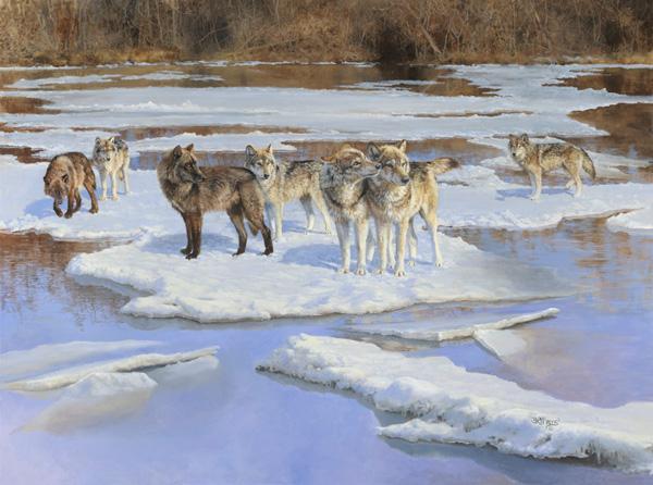 Bonnie Marris, Spring Ice, oil, 36 x 48.