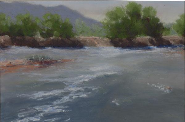 Diana Stauffer, Spring Melt at Coronado, pastel, 8 x 10.