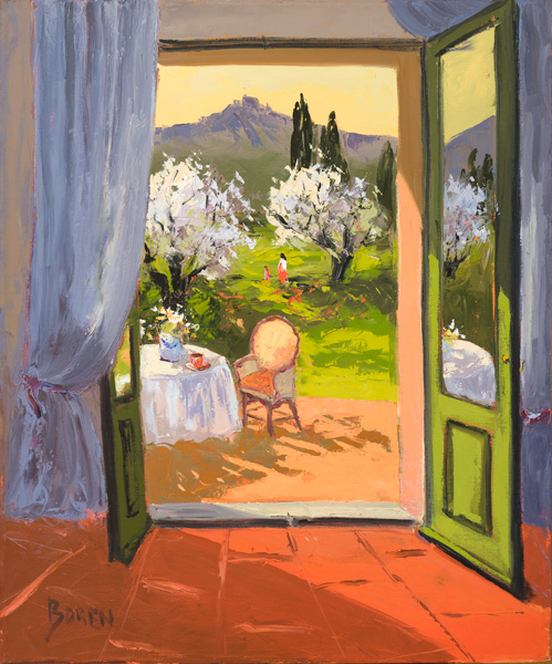 Evelyne Boren, Spring is Finally Here, oil, 30 x 36.