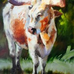 Linda St. Clair, Long, Tall Texan, oil, 48 x 36.