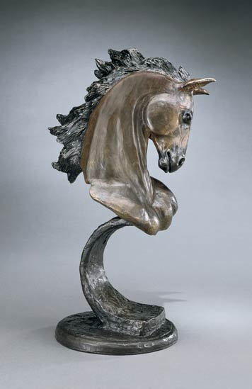 Eli Hopkins, Stallion, bronze, 15 x 9 x 6.