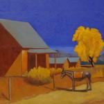 Robert Burt, Standing Still, acrylic, 30 x 40.