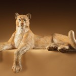 Star Liana York, Cougar, bronze, 18 x 29 x 46.