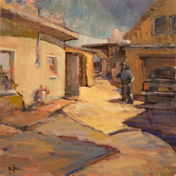 Paul Steiner, A Man's Home, oil, 20 x 20.