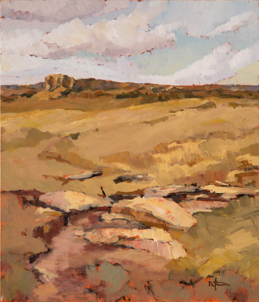 Paul Steiner, Cloud Rise, oil, 36 x 30.