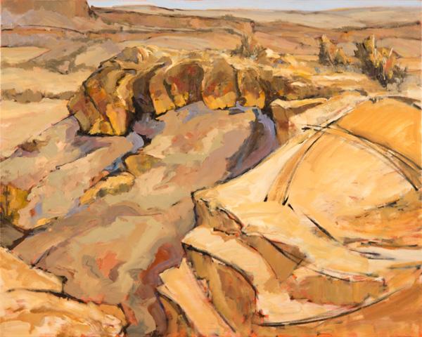 Paul Steiner, Sun and Shadow, oil, 24 x 30.