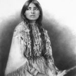 Stephanie Campos, A Warrior's Bride, charcoal, 13 x 10.