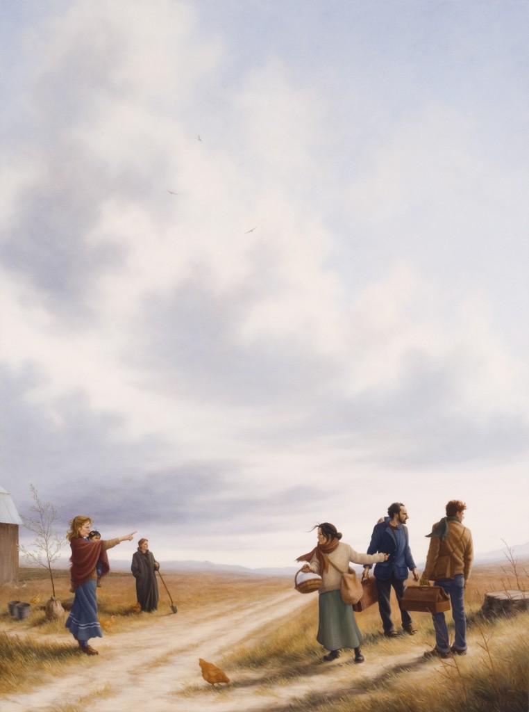 Stephanie Frostad, Confirmation, oil, 40 x 30.