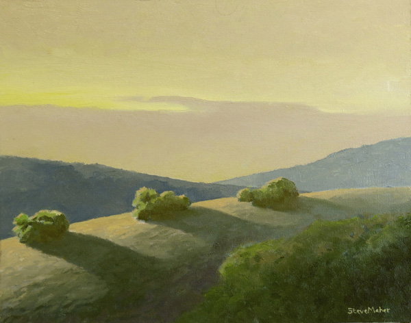 Steve Maher, Last Light Laureles, oil, 11 x 14.