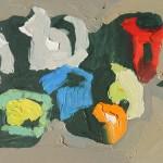 Peggi Kroll-Roberts, Still Life, oil, 5 x 8.
