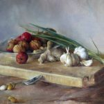Mary Qian, Still Life, oil, 12 x 16.