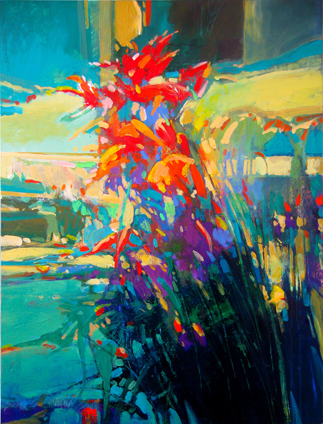Mark Gould, Study of Flora 1907, acrylic, 30 x 24.