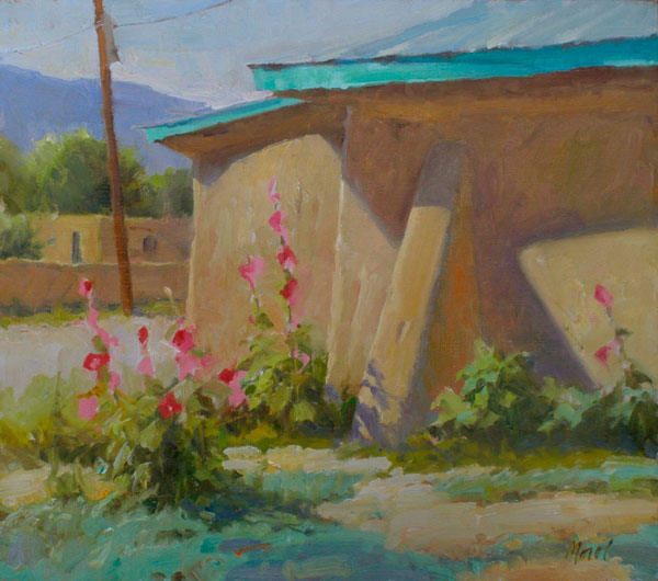 J. Chris Morel | Summer Adobe, oil, 14 x 16.