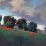 Romona Youngquist, Summer Rain, oil, 30 x 40.