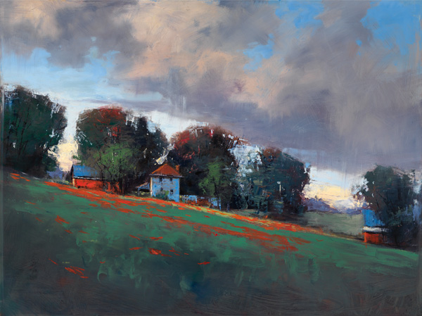 Romona Youngquist, Summer Rain, oil, 30 x 40.
