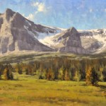 Greg Scheibel, Summer in Glacier, oil, 15 x 30.