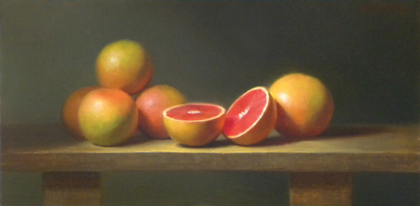 Wendy Higgins, Sweet Simplicity, oil, 12 x 24.