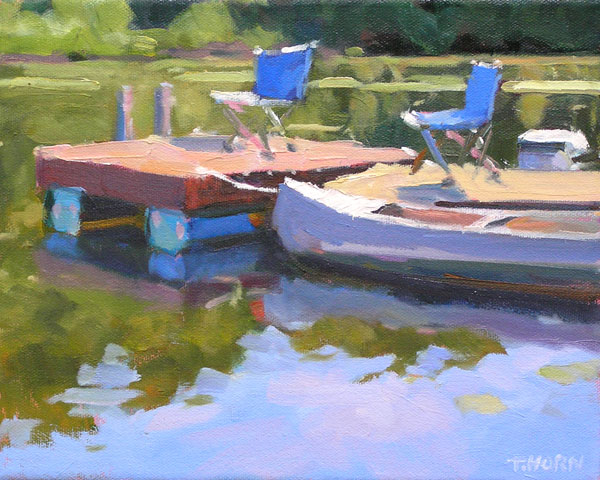 Tim Horn, Swimmy, oil, 8 x 10.