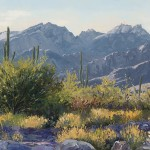 Carol Swinney, A Catalina Evening, oil, 12 x 24.