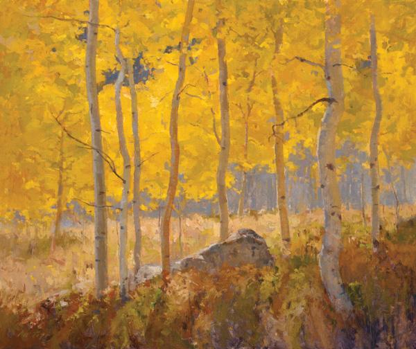 John Taft, Autumn Radiance, oil, 30 x 36.