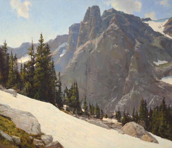 John Taft, Notchtop Summer, oil, 36 x 42.