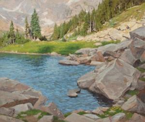 John Taft, Rock Water, oil, 40 x 48.