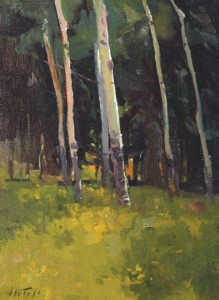 John Taft, Tuesday Aspens, 12 x 9.