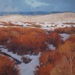 John Taft, Winter Grazers, oil, 36 x 42.