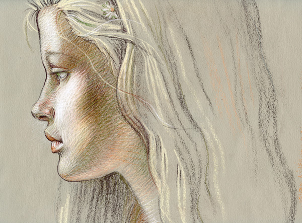 Olga & Aleksey Ivanov, Terra, graphite/pastel pencil, 11 x 15