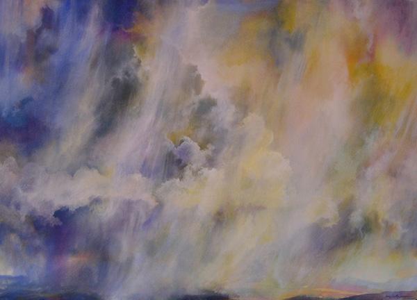 Angus Macpherson, Tuesday Storm, acrylic, 34 x 48.