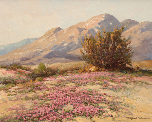 Robert William Wood, Desert Carpet, oil, 16 x 20.