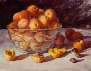 Teresa Vito, Just Picked, oil, 16 x 20.