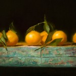 Tangelos, oil, 12 x 20.