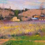 Albert Handell, Taos Asters, pastel, 11 x 15.