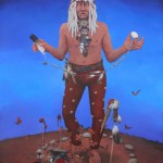 Robert Taylor, The Great Mystery, acrylic, 60 x 48.