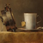 Erin Schulz, Tea Time, oil still-life painting