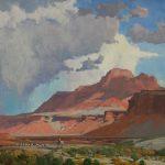 G. Russell Case, Tending Sheep, oil, 30 x 40.