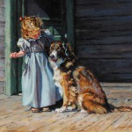 Sonya Terpening, A Good Listener, oil painting